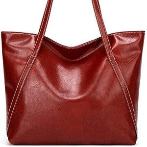NEW ADUO Women Casual Tote, Wine Red